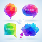 Colorful geometric bubbles for speech.  — Stock Vector