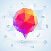 красочные геометрический пузырь для речи. — Cтоковый вектор