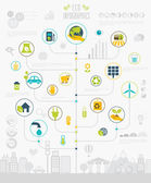 Ecology Infographic set with charts and icons. — Stock Vector