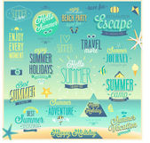 Summer and Travel set - labels and emblems. — Stock Vector