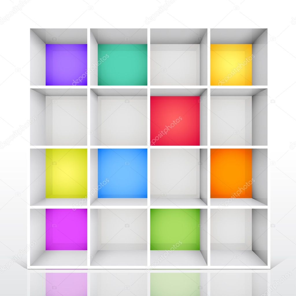Library Shelf Clipart