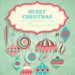 Funny Christmas postcard — Stock Vector #8132102