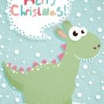 Funny Christmas postcard — Stock Vector #8132134