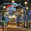 Stock Photo: Oxford street christmas lights