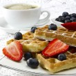Stock Photo: Freshly baked waffles