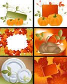 Thanksgiving Designs — Stock Vector