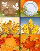 Thanksgiving Designs — Stock Vector