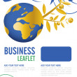 Leaflet design — Stock Photo