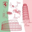 Symbols of Italy - Stock Vector
