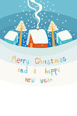Merry Christmas and New year's card — Stock Vector