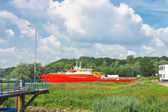 The new ships at the shipyard. Netherlands — Stock Photo