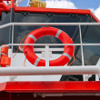 Lifebuoy on a modern ship — Stock Photo