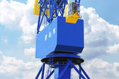 Port crane cabin close-up — Stock Photo