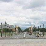 View of the Alexander III bridge in Paris. France — Stock Photo