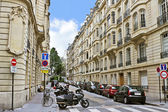 Lane in the center of Paris. France — Stock Photo