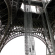 The openwork interweaving Eiffel Tower. Paris. France — Stock Photo