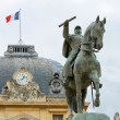 Stock Photo: EquestriStatue of Marechal Joffre at Champ de Mars in Pa