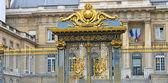 Puertas del palacio de justicia de parís. francia — Foto de Stock