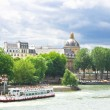 Pleasure boat on Seine in Paris. France — Stock Photo #14363443