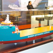 Stand shipbuilding company Damen at the exhibition Offshore Ener — Stock Photo