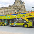 Tourists bus in heart of Paris. France - Stockfoto