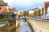 City canal in Valkenburg. Netherlands — Stock Photo