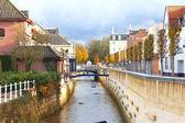 City canal in Valkenburg. Netherlands — Stock Photo