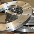 New flanges in the workshop of the plant — Stock Photo