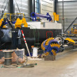 Production of the new dredger in the workshop shipyard — Stock Photo