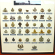 Insignia badges British Army at the Museum of the Battle of Norm — Stock Photo #19713177