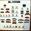 Insignia badges Canadian Army at the Museum of the Battle of Nor — Stock Photo