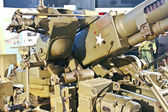 Anti-aircraft gun at Museum of Battle of Normandy. Bayeux, Franc — Stock Photo