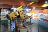 Arma naval en el museo de la batalla de normandía. bayeux, franco — Foto de Stock