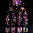 Stained glass in the cathedral in Bayeux. Normandy. France — Stok fotoğraf