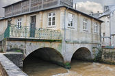Old house on river in the town of Bayeux. Normandy, France — Stock Photo