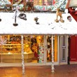 Christmas Windows grocery store in Bayeux. Normandy. France — Stock Photo