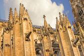 日没時のバイユーの大聖堂。ノルマンディー。フランス — ストック写真