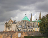 Cathedral of Chartres. Christmas, France — Stock Photo