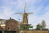 Windmill in the Dutch town of Gorinchem. Netherlands — Стоковое фото