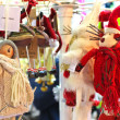 Foto Stock: Woolen dolls in gift shop