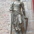 Statue of Joof Arc in abbey of Mont Saint Michel. Norman — Stock Photo #23545837
