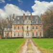 Stock Photo: Old mansion in park. France