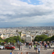 Parisians and tourists on Montmartre. Paris. France  — Stockfoto
