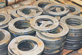 New flanges in the workshop of the plant — Стоковое фото