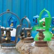 Stock Photo: Oxygen tanks of stock industrial enterprises