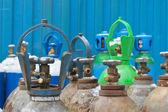 Oxygen tanks of stock industrial enterprises — Stock Photo