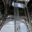 Stock Photo: Openwork interweaving Eiffel Tower. Paris. France