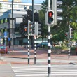 Stock Photo: Employed traffic lights at crossroads in Dordrecht, Nethe