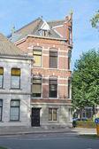 Facade of a beautiful building in the Dutch city Dordrecht, Ne — Zdjęcie stockowe