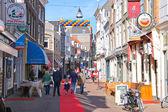 People on the celebratory street in Dordrecht, Netherlands — Stock Photo